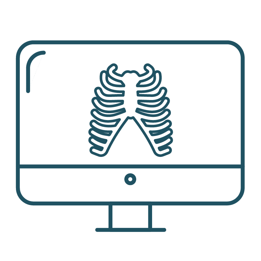 This is an icon resembling a bone scan.