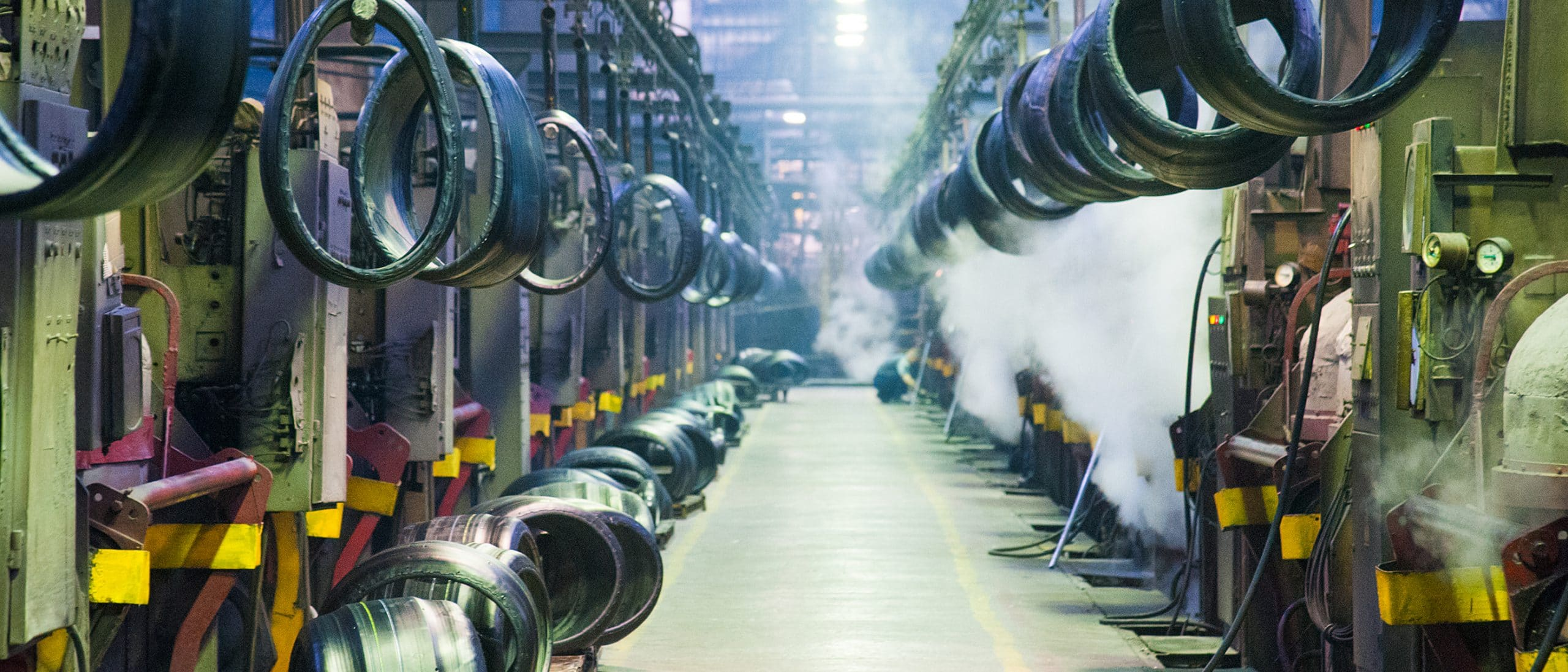 This is an image of a tire factory.