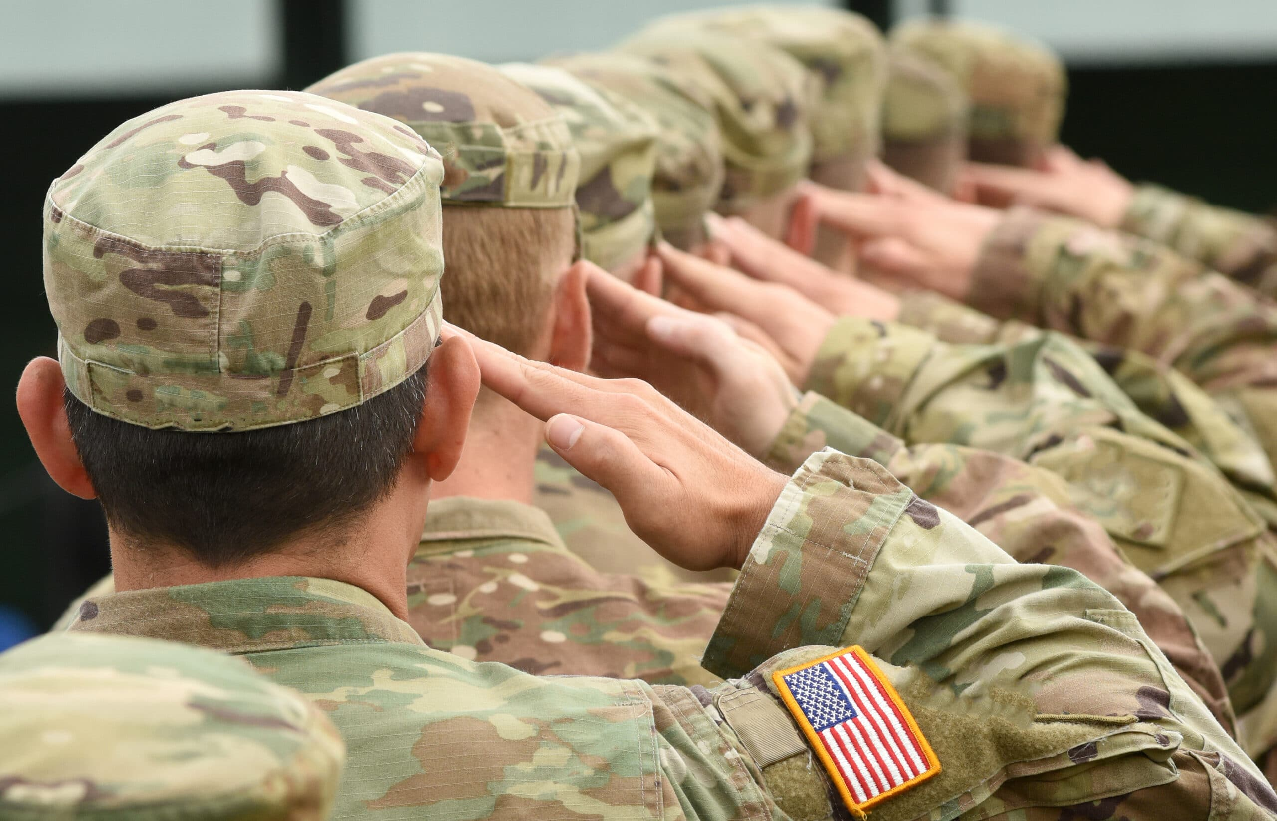 This is an image of army service members.