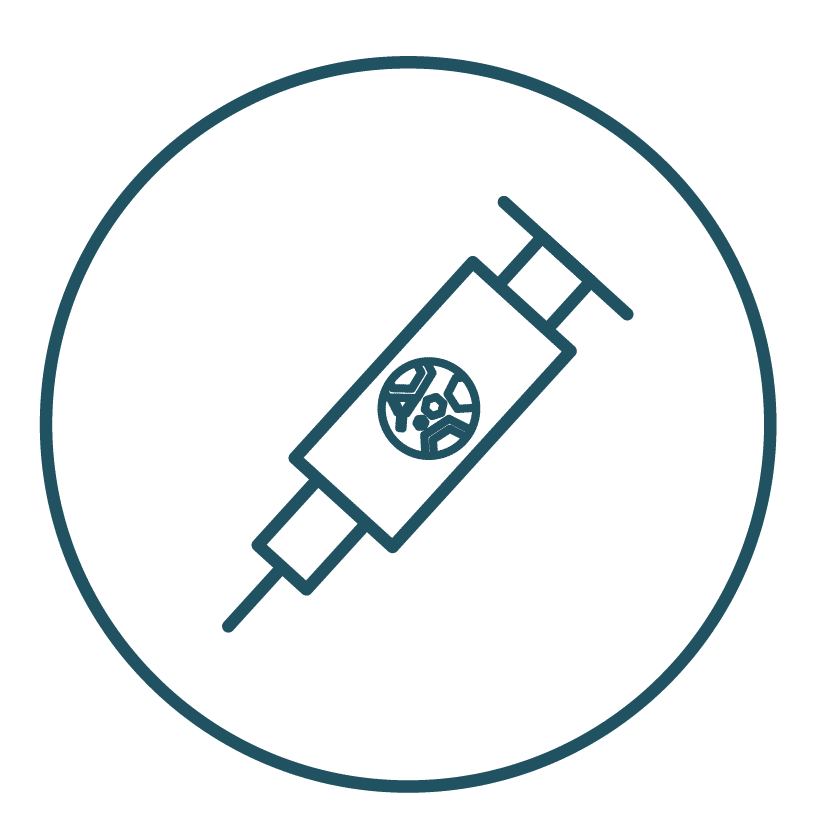 This is an icon representing an oncolytic virus therapy medication.